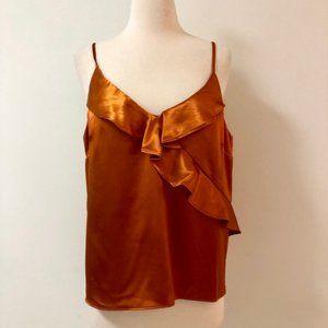 NWT Heartloom Orange Ruffle Blouse Size Medium